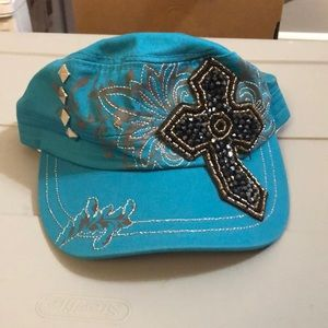 Awesome blue studded hat - NEW